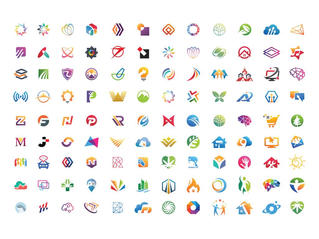 Slika sa različitim logotipima